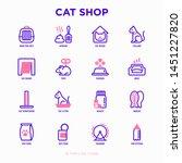 cat shop thin line icons set ... | Shutterstock .eps vector #1451227820