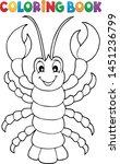 coloring book cartoon lobster...   Shutterstock .eps vector #1451236799