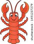 cartoon lobster theme image  ...   Shutterstock .eps vector #1451237279
