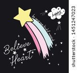 star and rainbow on the space | Shutterstock .eps vector #1451247023