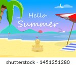 beach background with hello... | Shutterstock .eps vector #1451251280
