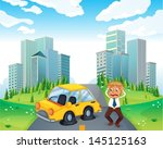 illustration of a worried owner ...   Shutterstock .eps vector #145125163