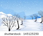illustration of a place covered ... | Shutterstock .eps vector #145125250