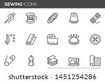 sewing vector line icons set.... | Shutterstock .eps vector #1451254286