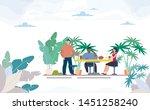 multinational  female  male... | Shutterstock .eps vector #1451258240