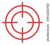 red crosshair icon   black and... | Shutterstock .eps vector #1451263703