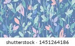 seamless leaf pattern with... | Shutterstock .eps vector #1451264186