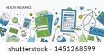 horizontal banner with hands...   Shutterstock . vector #1451268599