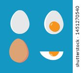 vector food icon set of chicken ...   Shutterstock .eps vector #1451270540