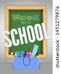 back to school green textured... | Shutterstock .eps vector #1451279876