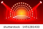 stage podium with lighting ... | Shutterstock .eps vector #1451281433