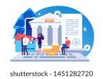 online bank agreement. loan... | Shutterstock .eps vector #1451282720