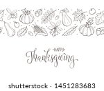 happy thanksgiving day greeting ... | Shutterstock .eps vector #1451283683