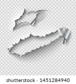 torn ripped metal vector... | Shutterstock .eps vector #1451284940
