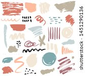 brush strokes and paint... | Shutterstock . vector #1451290136