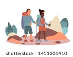 couple spending time together ... | Shutterstock .eps vector #1451301410