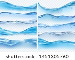 wave realistic splashes. liquid ... | Shutterstock .eps vector #1451305760