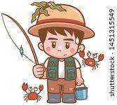 vector illustration of cartoon... | Shutterstock .eps vector #1451315549