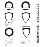 heraldry set of six different... | Shutterstock .eps vector #1451323823