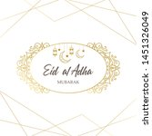 vector muslim holiday eid al... | Shutterstock .eps vector #1451326049