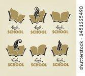 back to school  vector... | Shutterstock .eps vector #1451335490
