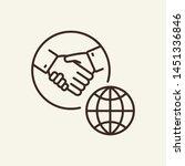 international partners line... | Shutterstock .eps vector #1451336846