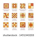 Quilt Sewing Pattern. Log Cabin ...