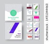set of white vector square web... | Shutterstock .eps vector #1451344463