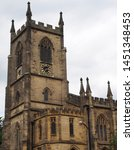 christ church in sowerby bridge west yorkshire built in a medieval style in 1821 with ornate stone work and clock tower