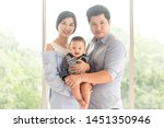 portrait of happy family have... | Shutterstock . vector #1451350946