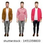 collage of handsome young...   Shutterstock . vector #1451358833