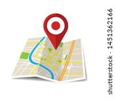 location icon vector. pin sign... | Shutterstock .eps vector #1451362166