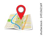location icon vector. pin sign... | Shutterstock .eps vector #1451362169