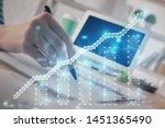 financial forex graph drawn...   Shutterstock . vector #1451365490