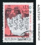 austria   circa 1965  stamp... | Shutterstock . vector #145137079