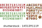 text design for christmas  text ... | Shutterstock .eps vector #1451391119