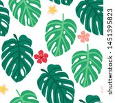 vector seamless pattern with... | Shutterstock .eps vector #1451395823