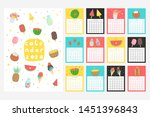 calendar 2020. cute monthly... | Shutterstock .eps vector #1451396843