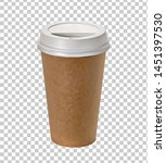 Coffee in blank craft or kraft...