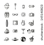 summer icon | Shutterstock .eps vector #145140823