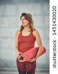 beautiful caucasian woman...   Shutterstock . vector #1451430020
