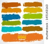 vector set of grunge colorful... | Shutterstock .eps vector #145143163
