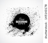 black grunge ink splat shapes... | Shutterstock .eps vector #145143178