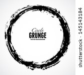 vector ink grunge circle frame | Shutterstock .eps vector #145143184