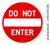 do not enter sign | Shutterstock .eps vector #145144138