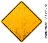 rusty yellow sign | Shutterstock .eps vector #145144270