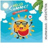 vintage summer poster design... | Shutterstock .eps vector #1451470706