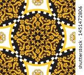 seamless trendy barocco... | Shutterstock .eps vector #1451472806