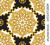 seamless trendy barocco... | Shutterstock .eps vector #1451472809