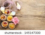 top view on cupcakes ... | Shutterstock . vector #145147330